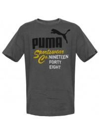 837308 03 Puma Mens Heritage Tee (medium grey heather)