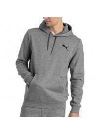 851744 02 Puma Fleece Hoodie (grey melange)