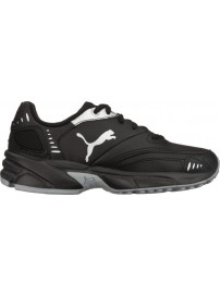 185699 11 Puma Xenon Trainer JR (black/white/quarry)