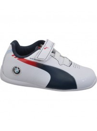 305170 02 Puma Evospeed Lo BMW (WHT BMW TEAM BLUE-HIGH R RED)