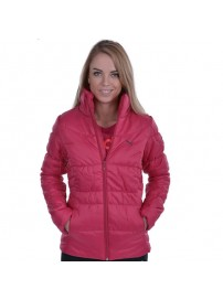 830068 04 Puma ESS Padded Jacket Χρώμα Φουξ