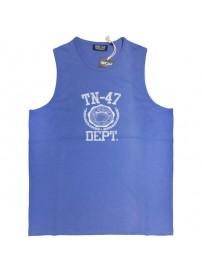 1029 000 GCM Ανδρικό αμάνικο t-shirt Χρώμα Μπλε