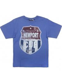 1037 300 GCM Ανδρικό κοντομάνικο t-shirt Χρώμα Μπλε