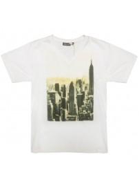 1039 000 GCM Ανδρικό κοντομάνικο t-shirt Χρώμα Λευκό