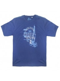 18162 GCM Ανδρικό κοντομάνικο t-shirt Μπλε navy