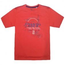18162 GCM Ανδρικό κοντομάνικο t-shirt Κοραλλί