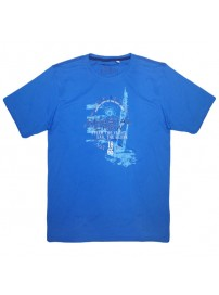 18162 GCM Ανδρικό κοντομάνικο t-shirt Χρώμα Μπλε ρουά