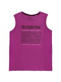 18165 GCM Ανδρικό αμάνικο t-shirt Χρώμα Φουξ