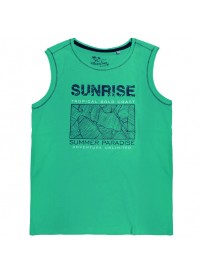 18165 GCM Ανδρικό αμάνικο t-shirt Χρώμα Πράσινο