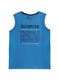 18165 GCM Ανδρικό αμάνικο t-shirt Χρώμα Μπλε ρουά