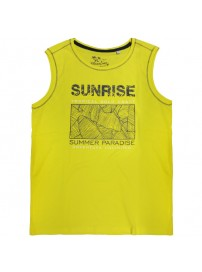18165 GCM Ανδρικό αμάνικο t-shirt Χρώμα Κίτρινο