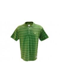 A9-021-1 289 Russell Ανδρική μπλούζα πόλο ριγιέ Χρώμα Πράσινο/Κίτρινο