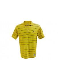 A9-021-1 351 Russell Ανδρική μπλούζα πόλο ριγιέ Χρώμα Κίτρινο/Μωβ