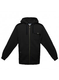 60352U 060 Umbro HB Overlay Zip Through Hodie (black)