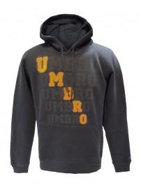 66502 0089 Umbro ανδρική μπλούζα φούτερ με κουκούλα Χρώμα Μολυβί