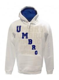 66502 00E5 Umbro ανδρική μπλούζα φούτερ με κουκούλα Χρώμα Άσπρο