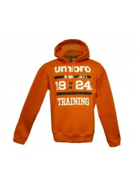 66504 0001 Umbro 1924 Hooded Sweat Top (orange)