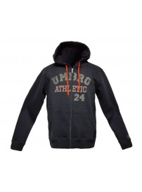 66505 8901 Umbro Ath Hooded Jacket (ebony/fiesta orange)