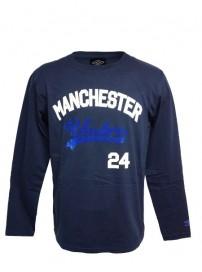 66508 0011 Umbro ανδρική μπλούζα μακό Χρώμα Μπλε navy