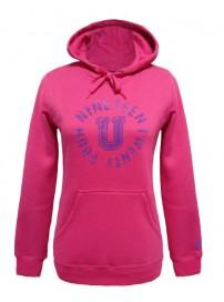 66525 00F1 Umbro Hood Sweat Top (virtual pink)