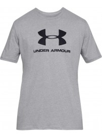 1329590-036 Under Armour Sportstyle Logo Short Sleeve (Grey)