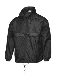 519 Fageo Jacket Wind and Waterproof Χρώμα Μαύρο