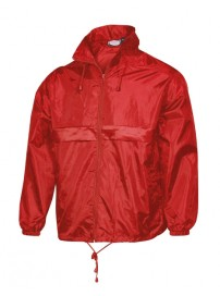 519 Fageo Jacket Wind and Waterproof Χρώμα Κόκκινο