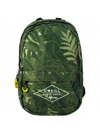 162 ONE 703.74 O'neill Double Backpack (green leaves allover)