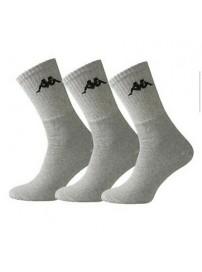 KP-3005-001 Kappa Sport Socks 3-Pack (Grey)