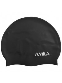 47013 Amila Silicon Swim Cap (black)