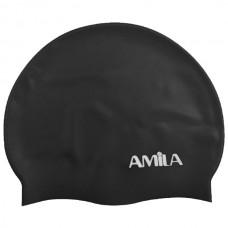47013 Amila Silicon Swim Cap (black)