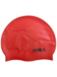 47014 Amila Silicon Swim Cap (red)