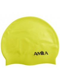 47015 Amila Silicon Swim Cap (yellow)