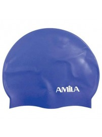 47020 Amila Silicon Swim Cap (blue)