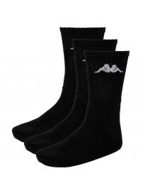 KP-3005-001 Kappa Sport Socks 3-Pack (Black)