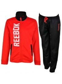 S49435 Reebok Tricot Tracksuit (chinese red/black)
