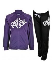 S49444 Reebok Tricot Tracksuit (purple slate/black)