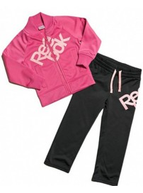 S49446 Reebok Tricot Tracksuit (charged pink/black)