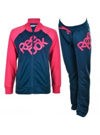 S49448 Reebok Tricot Tracksuit (charged pink/park denim)